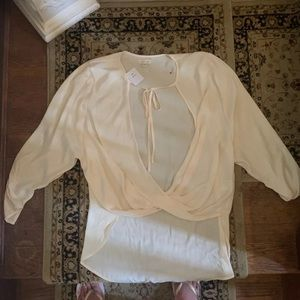 Urban outfitters cream blouse